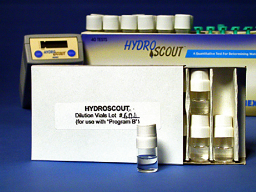 HydroSCOUT® High Range Dilution Vials